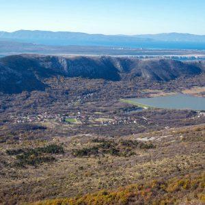 Pogled na Tribalj iz zraka